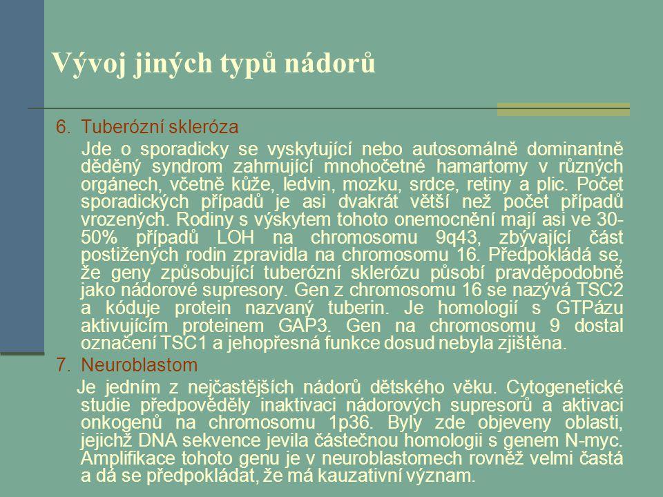 Vývoj jiných typů nádorů