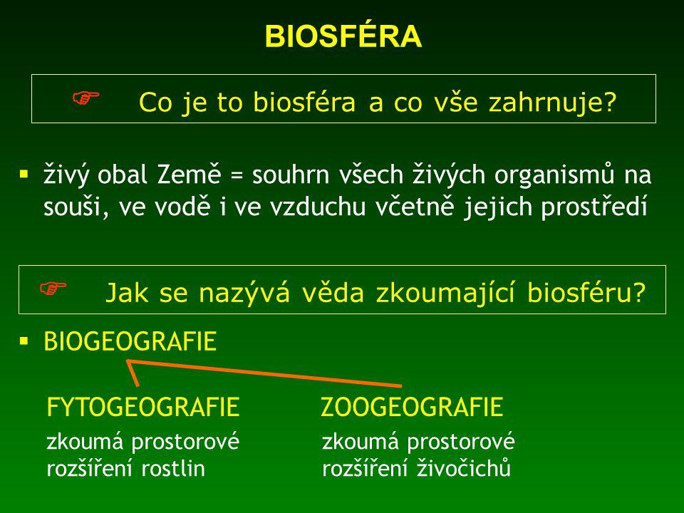  Co je to biosféra a co vše zahrnuje