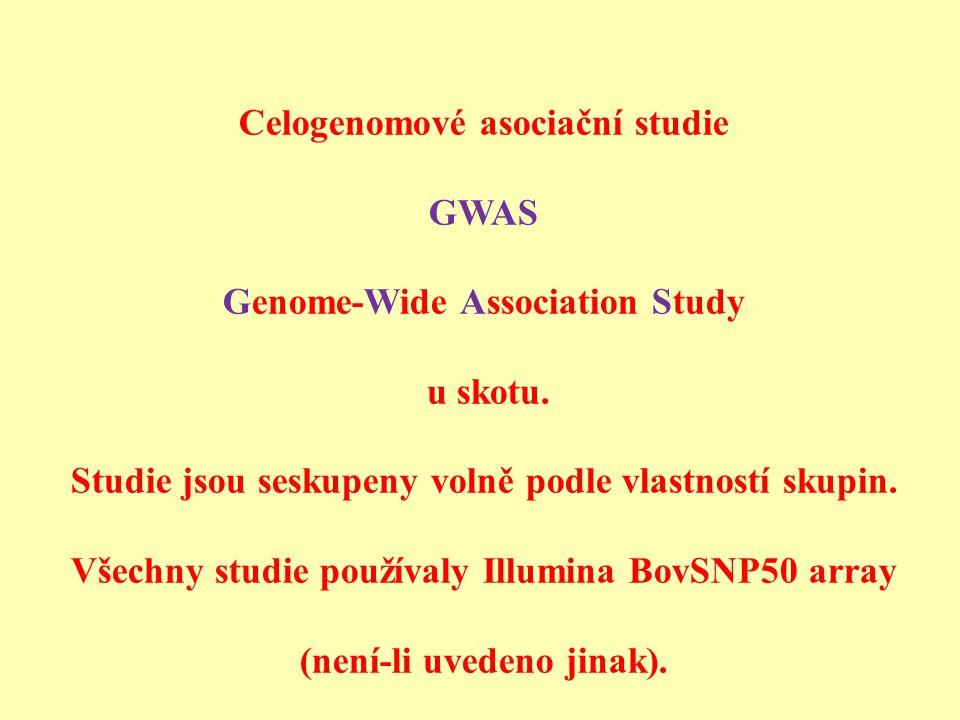 Celogenomové asociační studie Genome-Wide Association Study