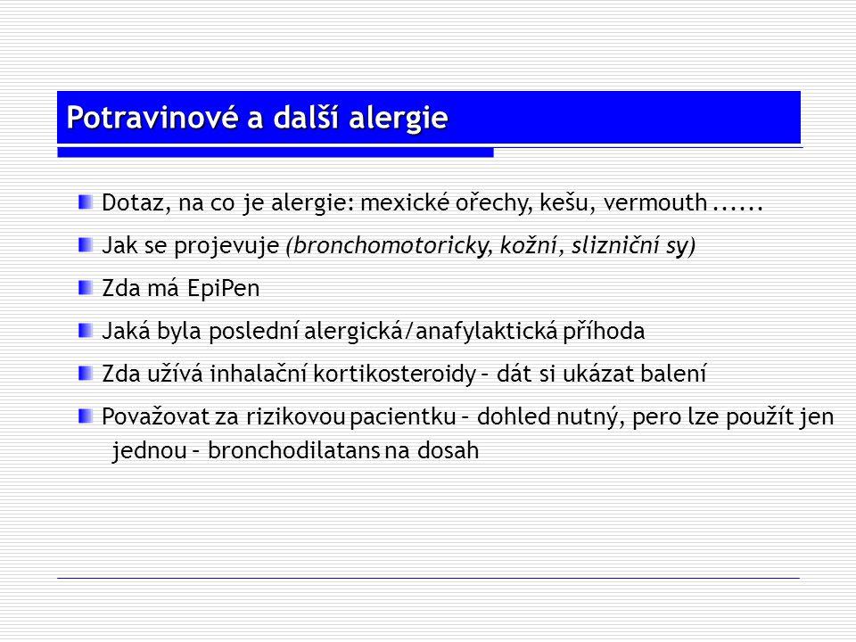 Potravinové a další alergie