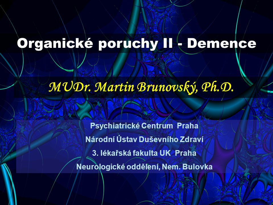 MUDr. Martin Brunovský, Ph.D.