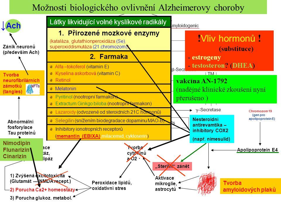 Možnosti biologického ovlivnění Alzheimerovy choroby