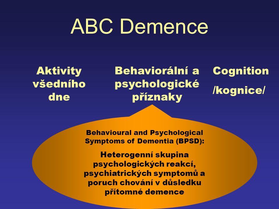 Behaviorální a psychologické příznaky