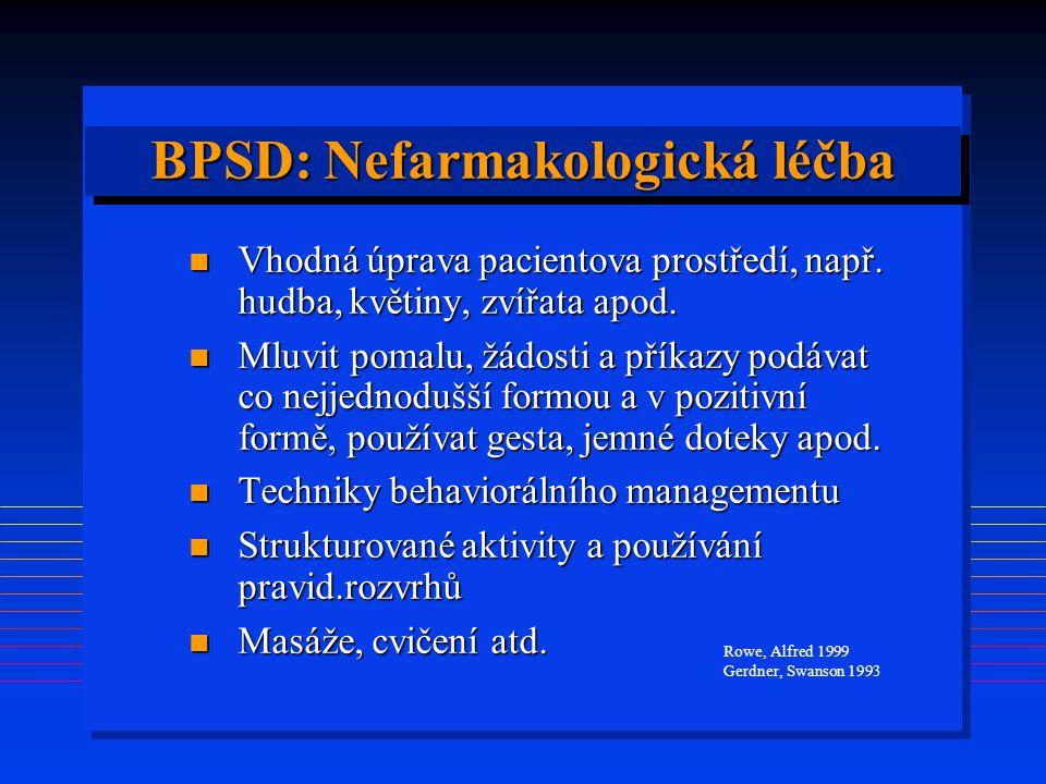 BPSD: Nefarmakologická léčba