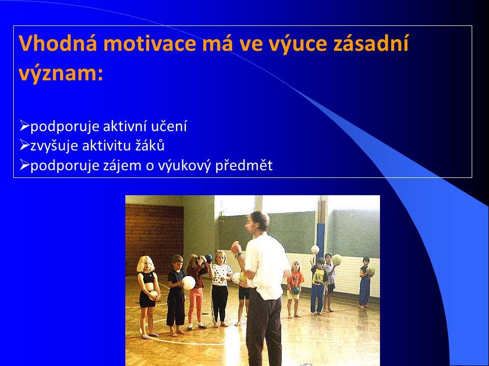 Vhodná motivace má ve výuce zásadní význam: