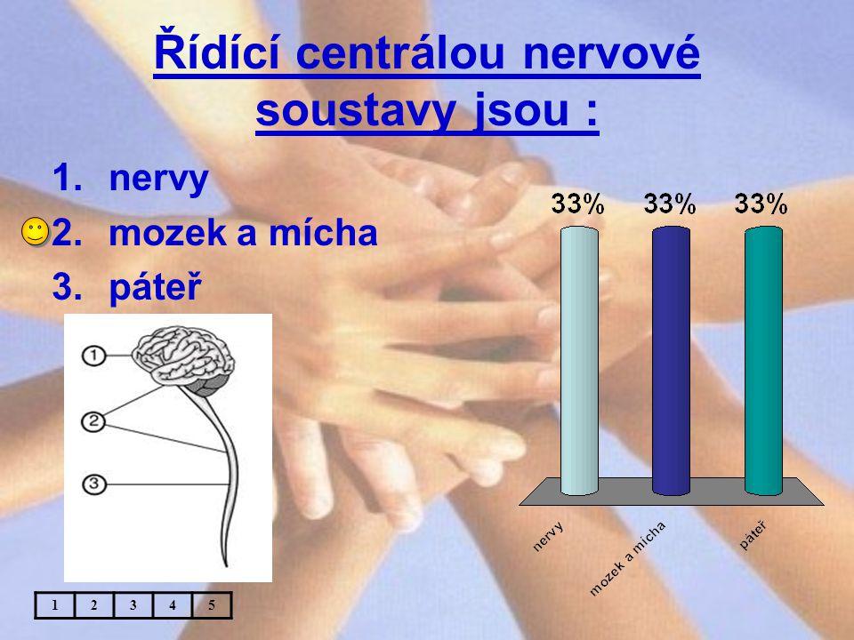 Řídící centrálou nervové soustavy jsou :