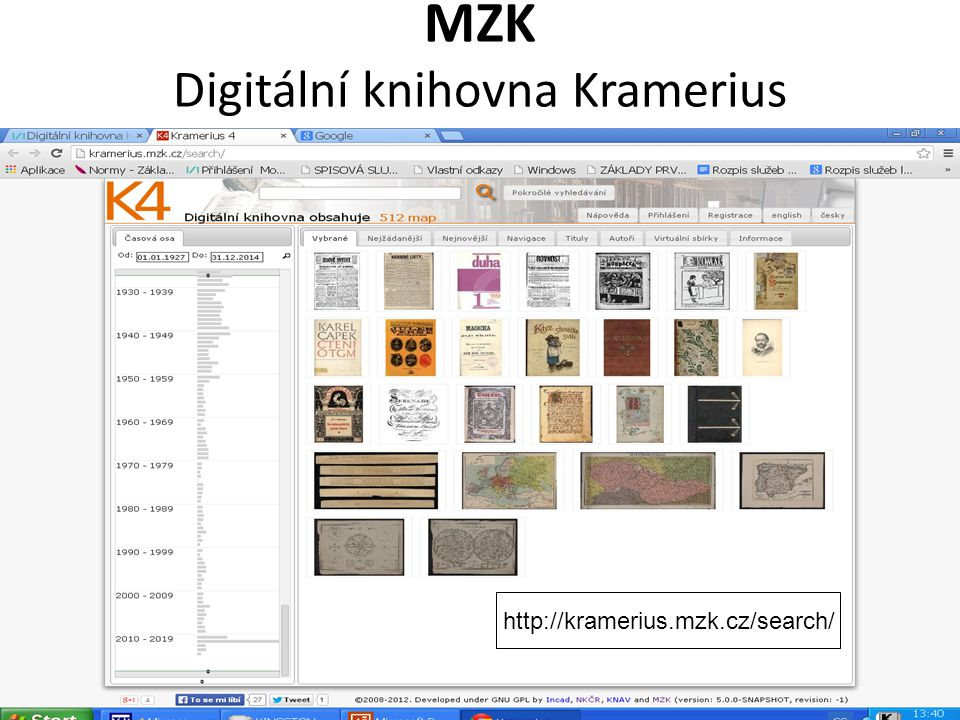 MZK Digitální knihovna Kramerius