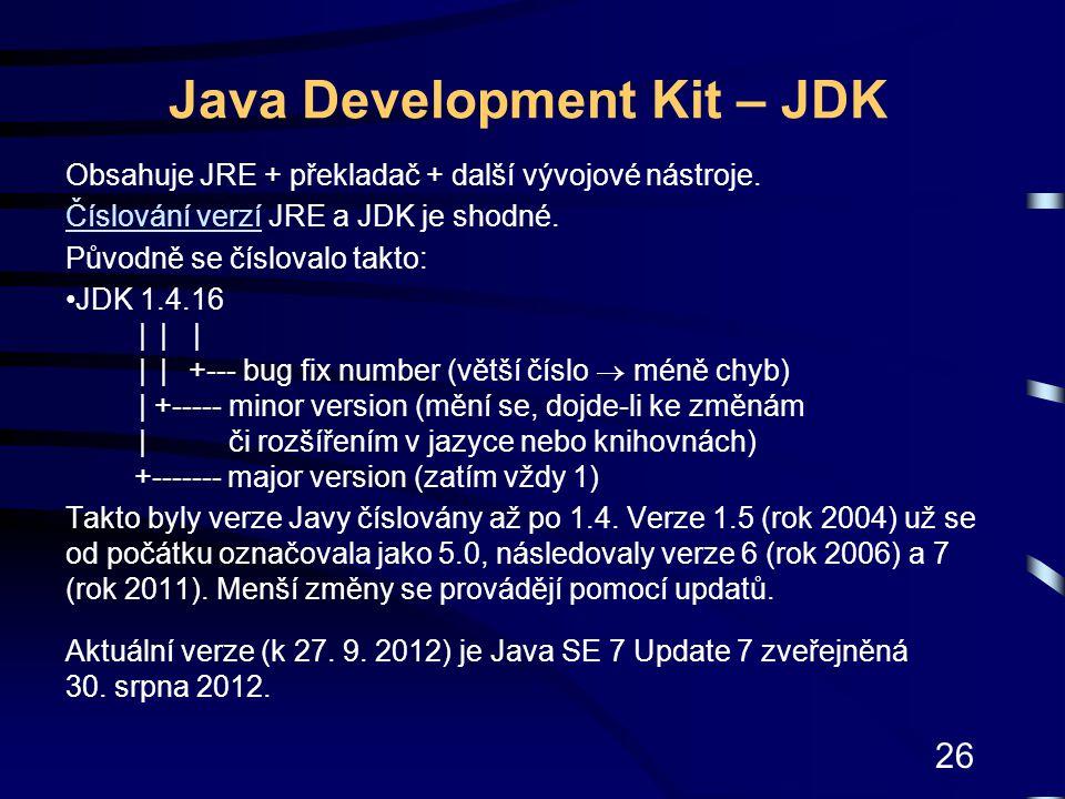 Java Development Kit – JDK