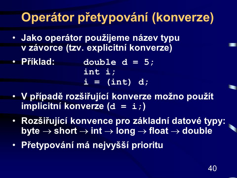 Operátor přetypování (konverze)