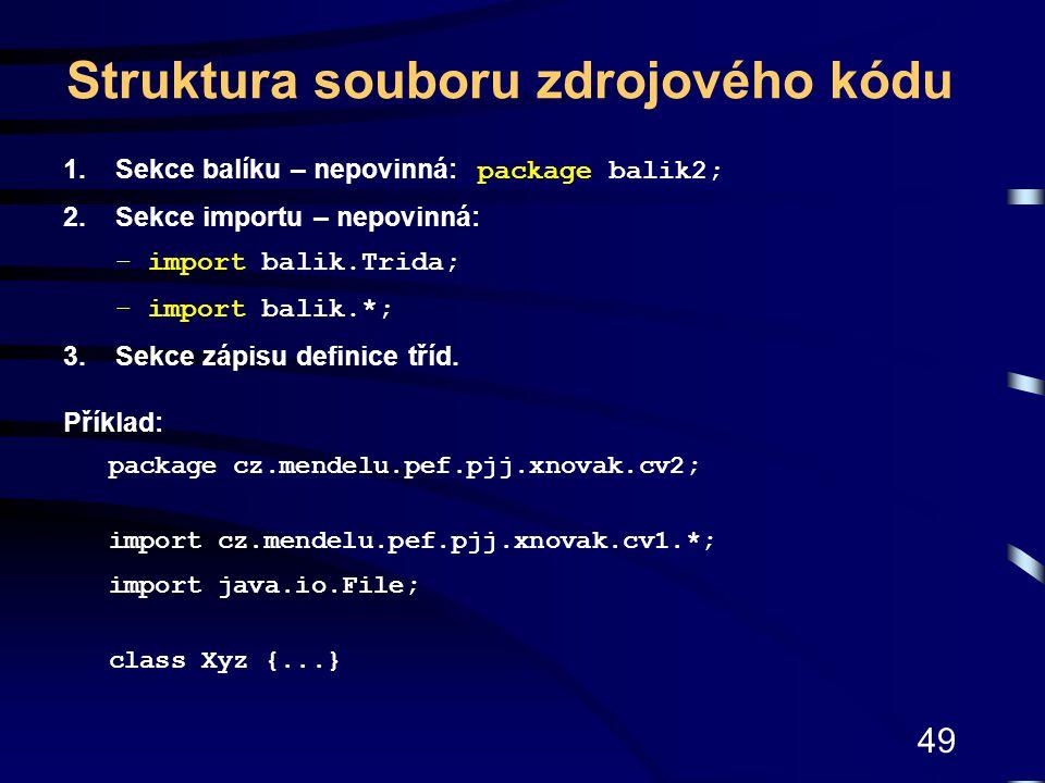 Struktura souboru zdrojového kódu