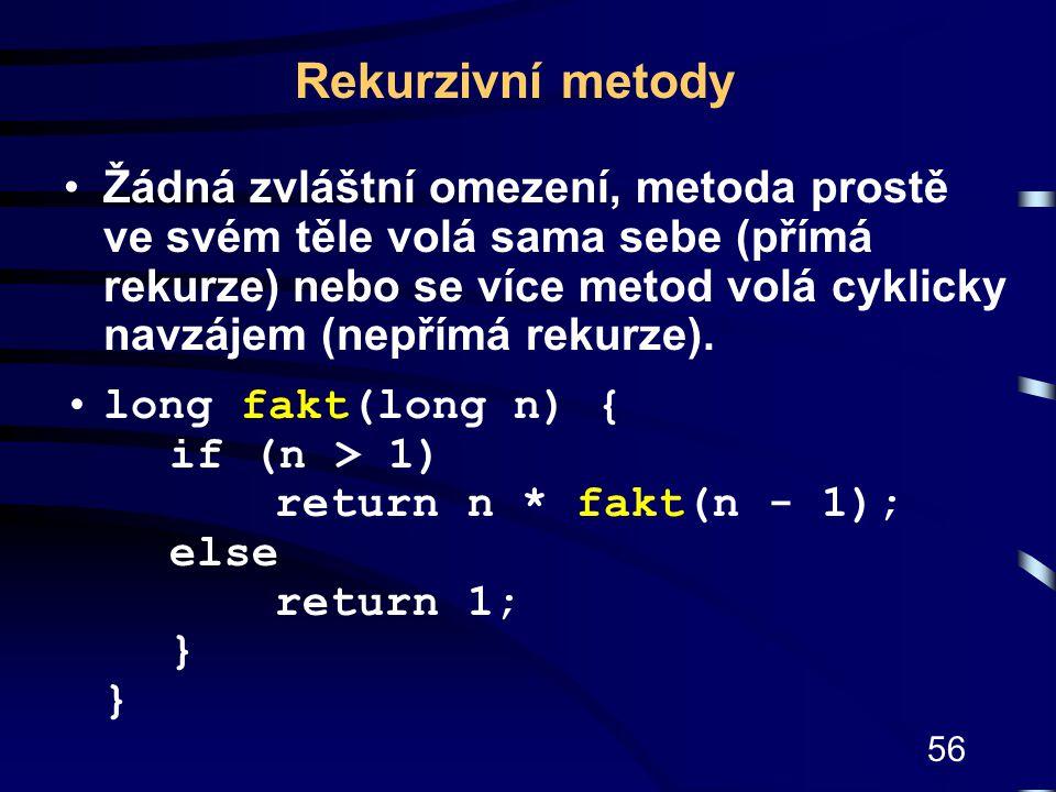 Rekurzivní metody