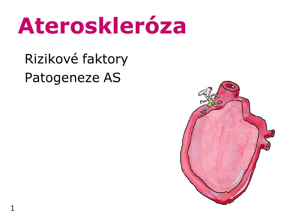 Rizikové faktory Patogeneze AS