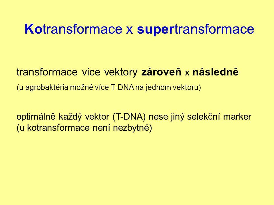 Kotransformace x supertransformace