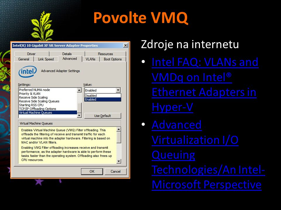 Povolte VMQ Zdroje na internetu