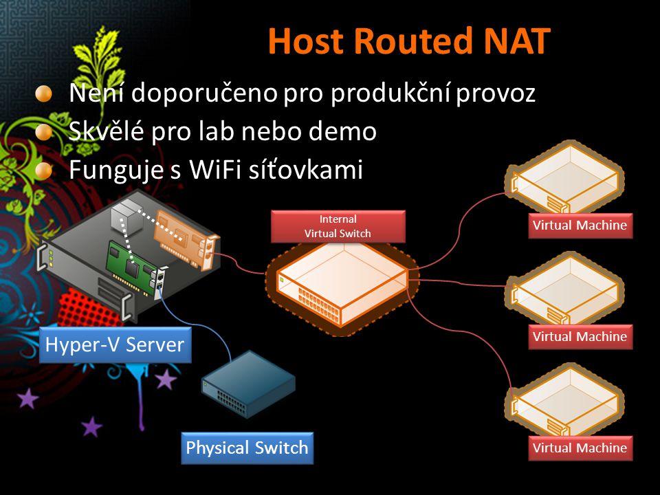 Host Routed NAT Není doporučeno pro produkční provoz