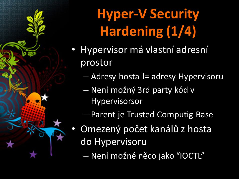 Hyper-V Security Hardening (1/4)