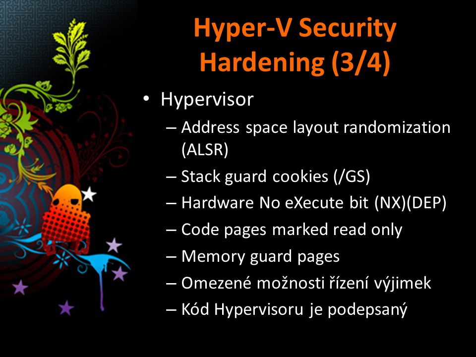 Hyper-V Security Hardening (3/4)