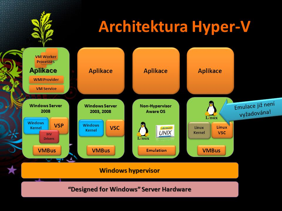 Non-Hypervisor Aware OS Designed for Windows Server Hardware