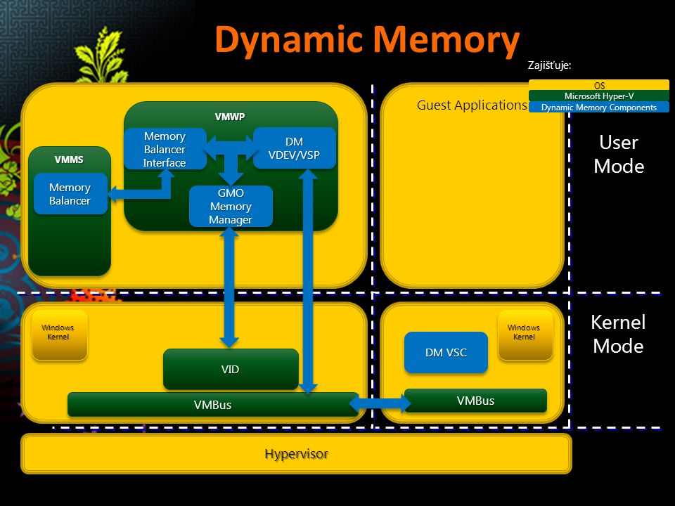 Dynamic Memory User Mode Kernel Mode Guest Applications Hypervisor