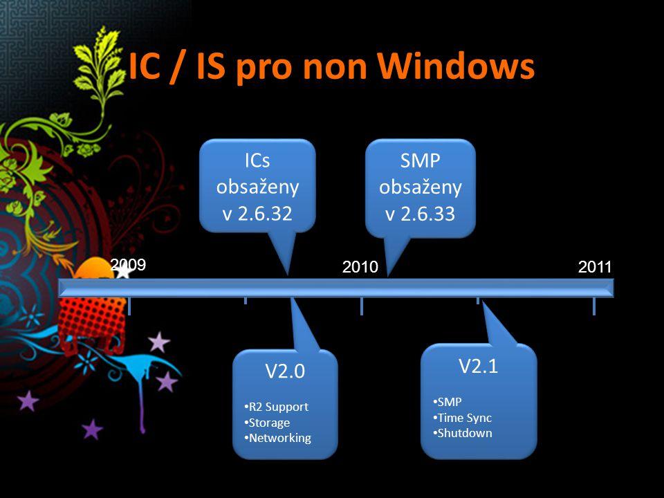 IC / IS pro non Windows ICs obsaženy v 2.6.32 SMP obsaženy v 2.6.33