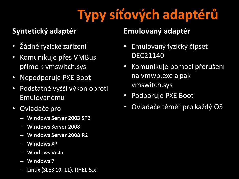 Typy síťových adaptérů