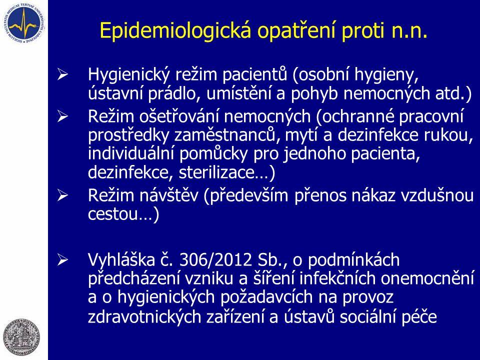 Epidemiologická opatření proti n.n.