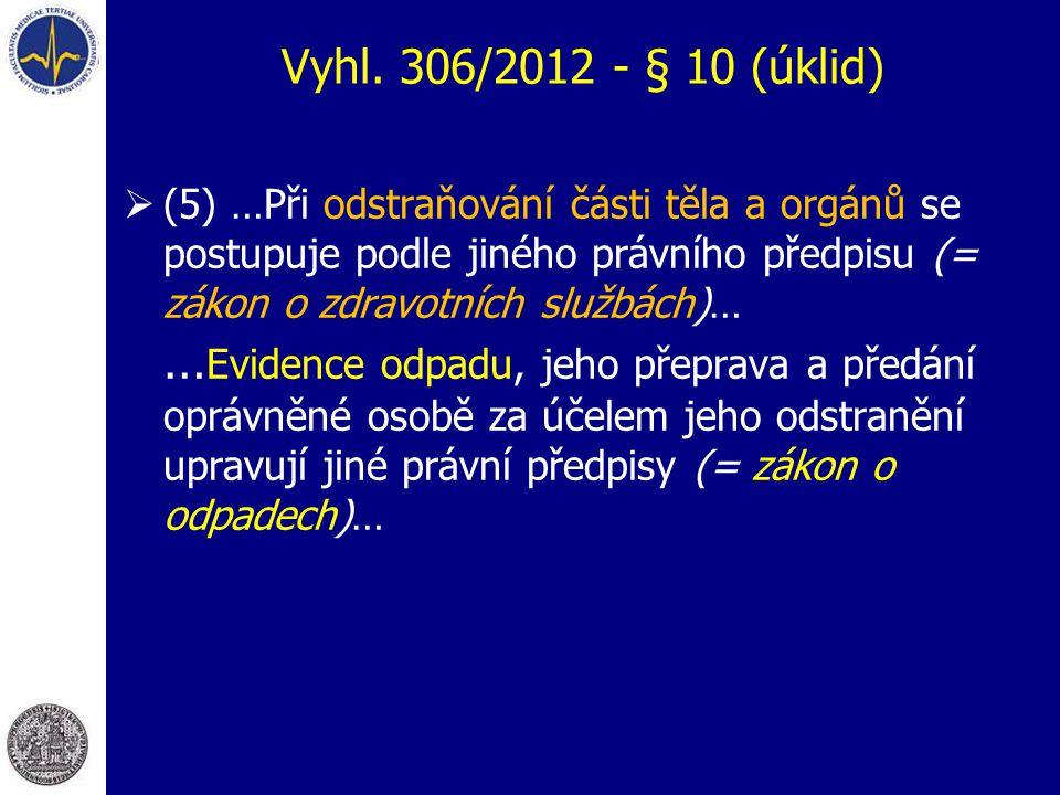 Vyhl. 306/2012 - § 10 (úklid)