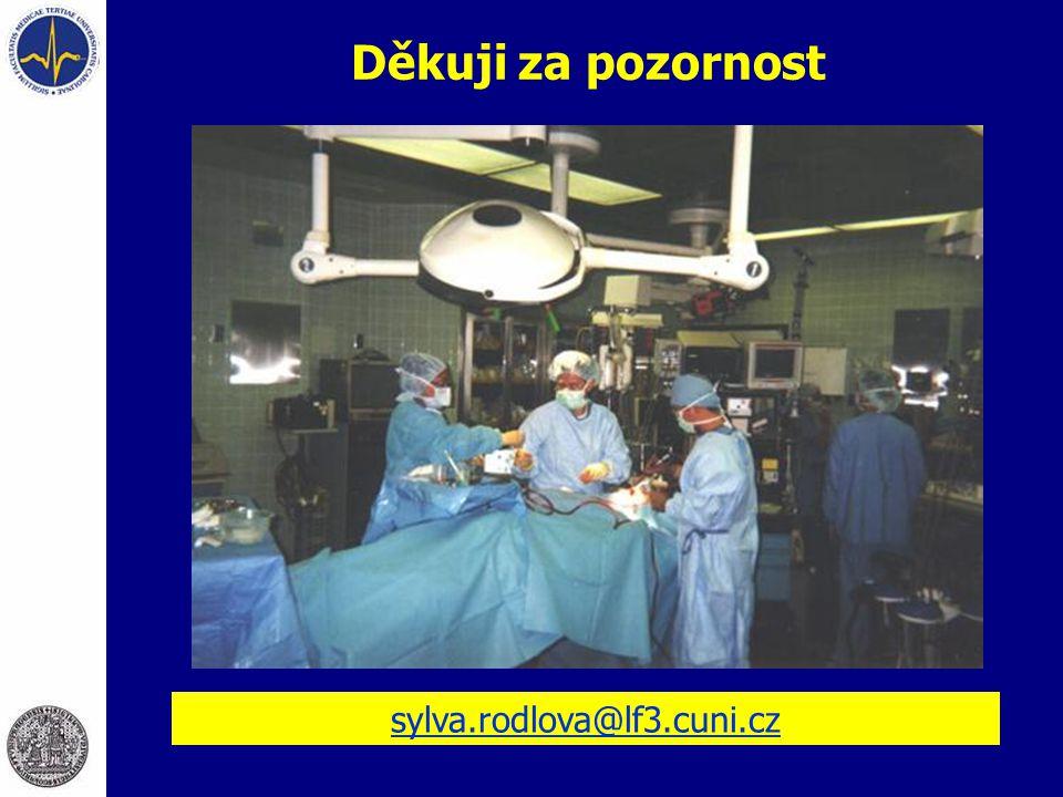 Děkuji za pozornost sylva.rodlova@lf3.cuni.cz
