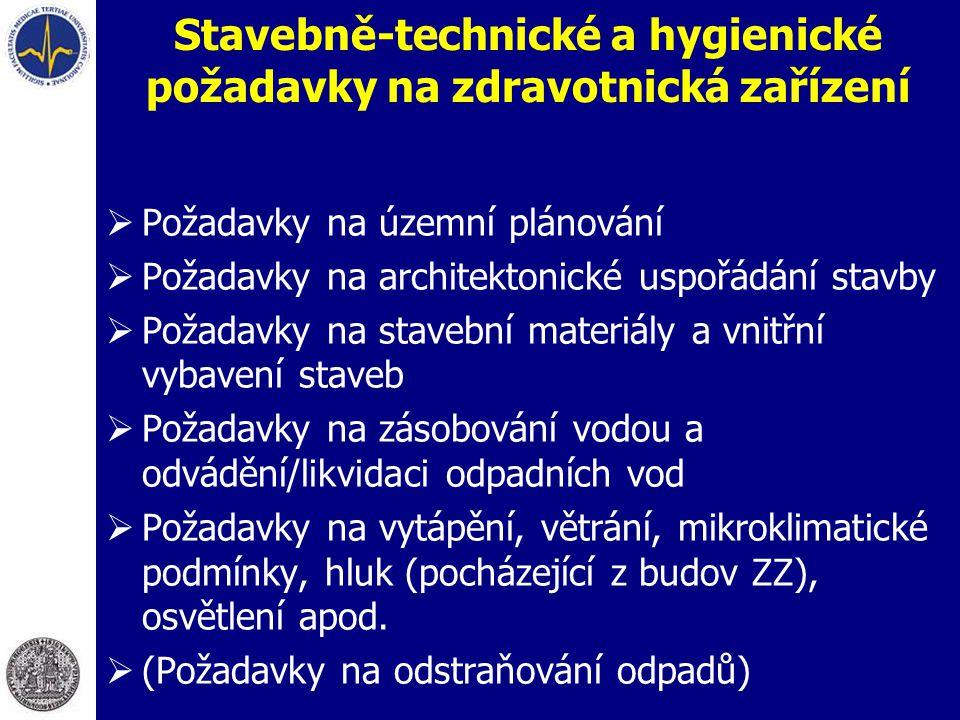 Stavebně-technické a hygienické požadavky na zdravotnická zařízení