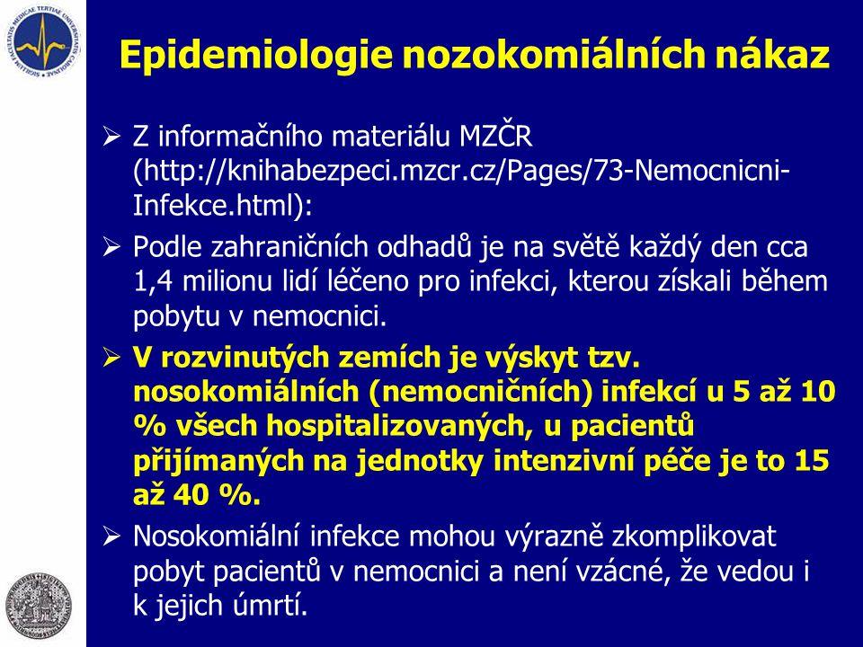 Epidemiologie nozokomiálních nákaz