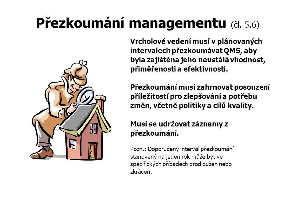 Přezkoumání managementu (čl. 5.6)