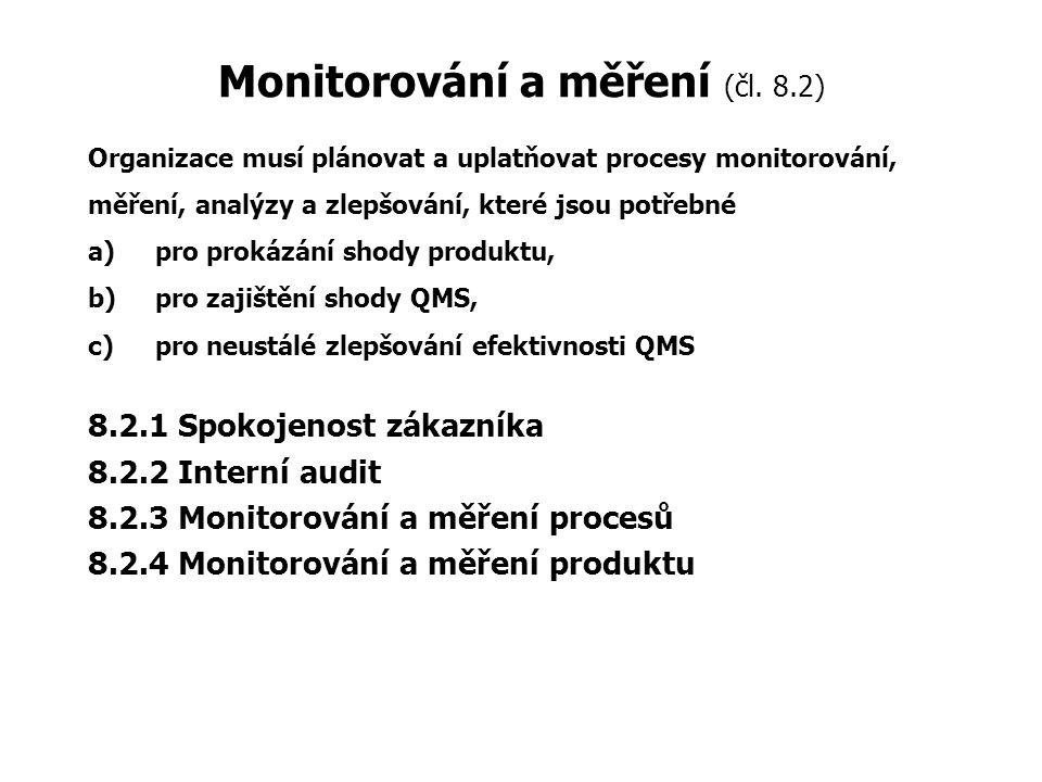 Monitorování a měření (čl. 8.2)