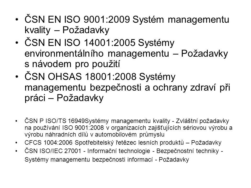 ČSN EN ISO 9001:2009 Systém managementu kvality – Požadavky