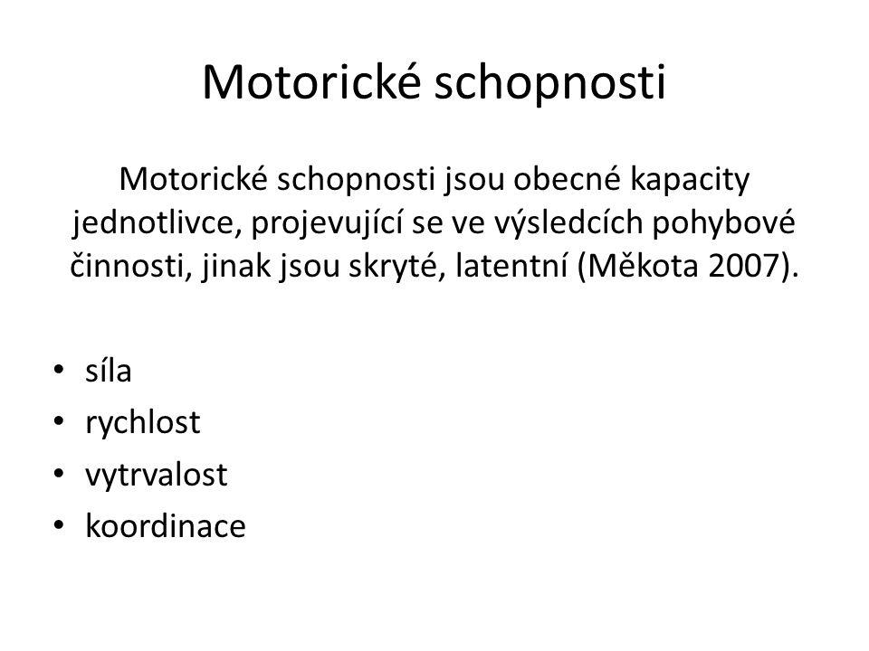 Motorické schopnosti
