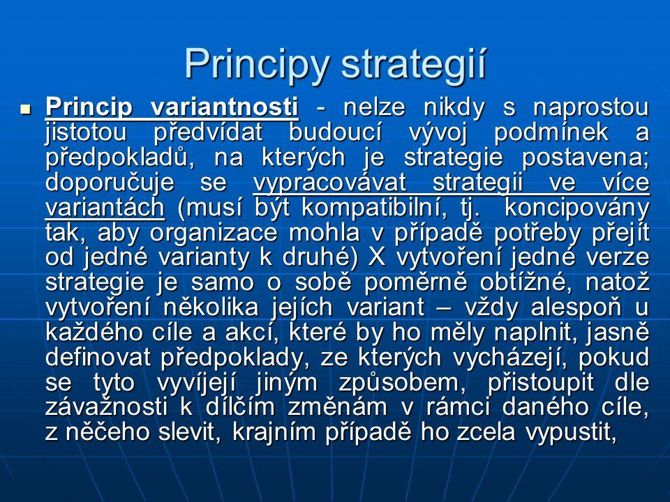 Principy strategií