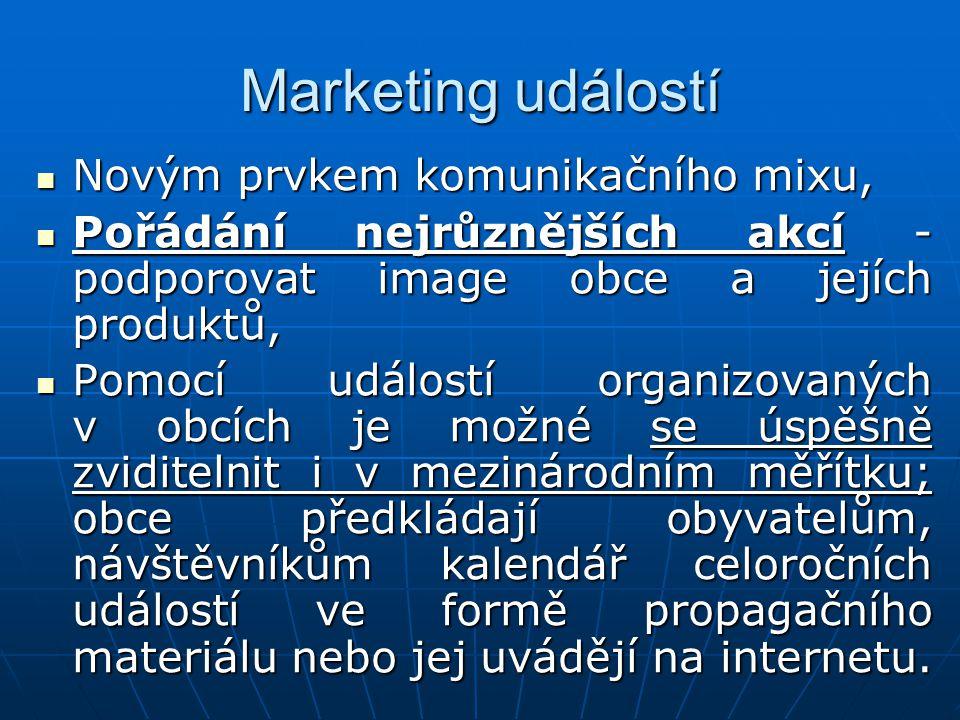 Marketing událostí Novým prvkem komunikačního mixu,