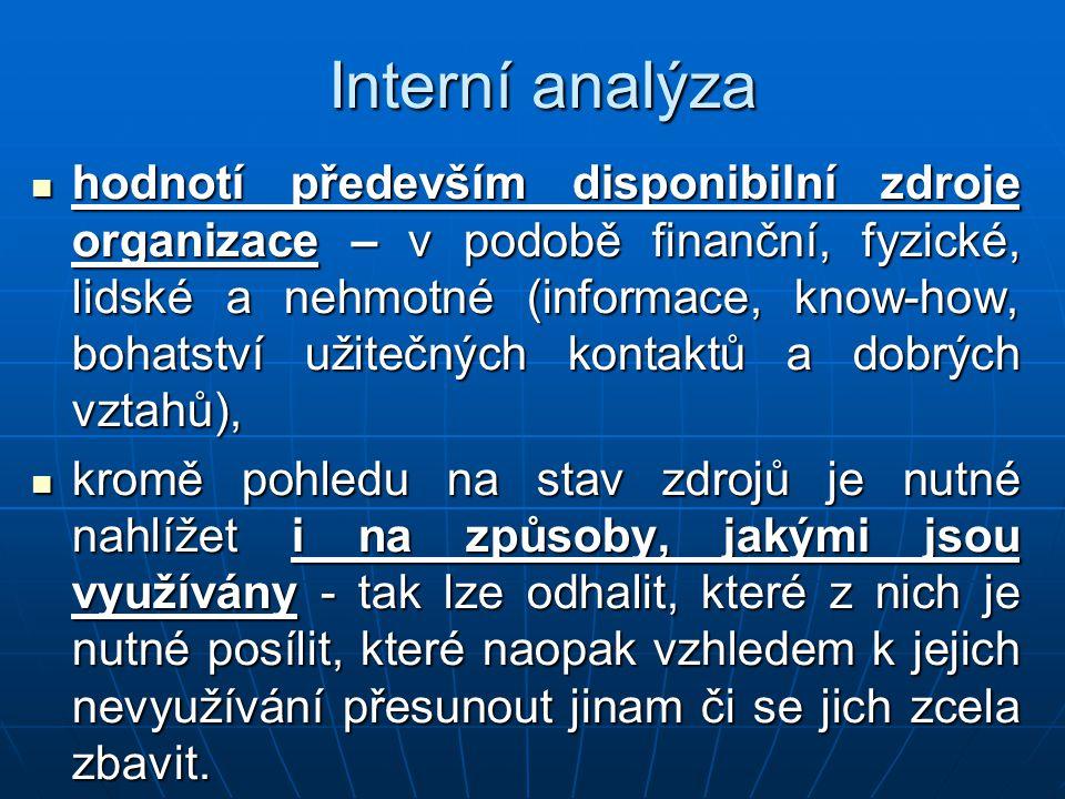 Interní analýza