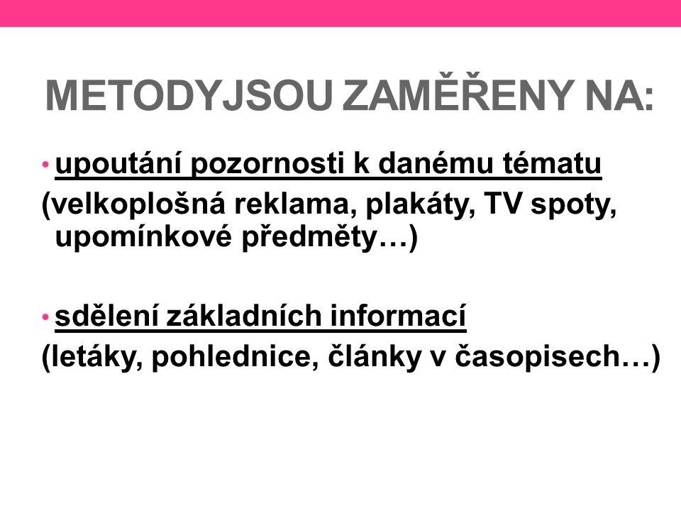 METODYJSOU ZAMĚŘENY NA: