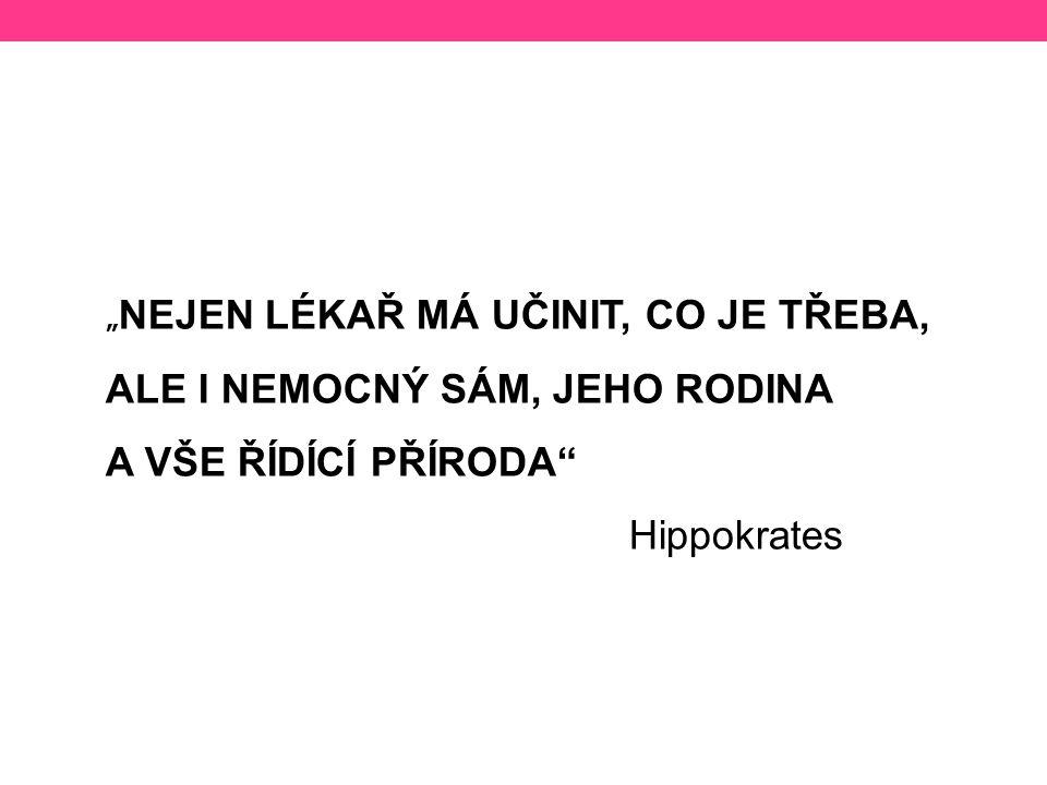 ALE I NEMOCNÝ SÁM, JEHO RODINA A VŠE ŘÍDÍCÍ PŘÍRODA Hippokrates