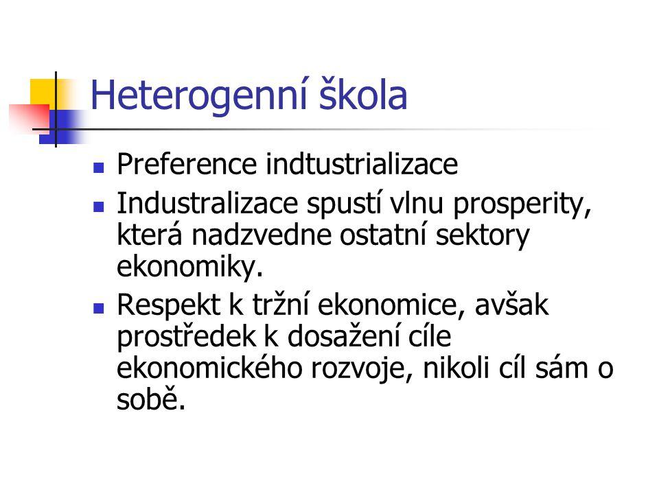 Heterogenní škola Preference indtustrializace