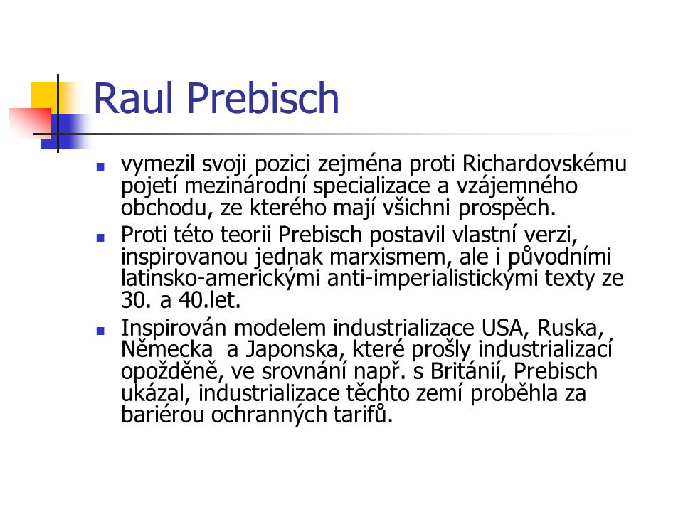 Raul Prebisch