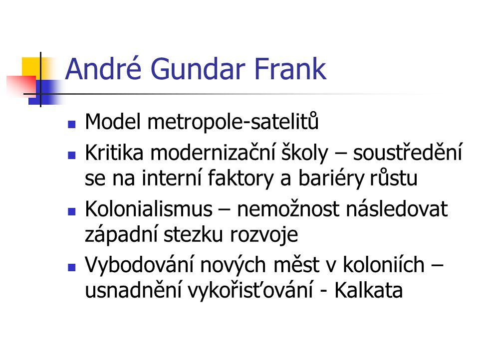 André Gundar Frank Model metropole-satelitů