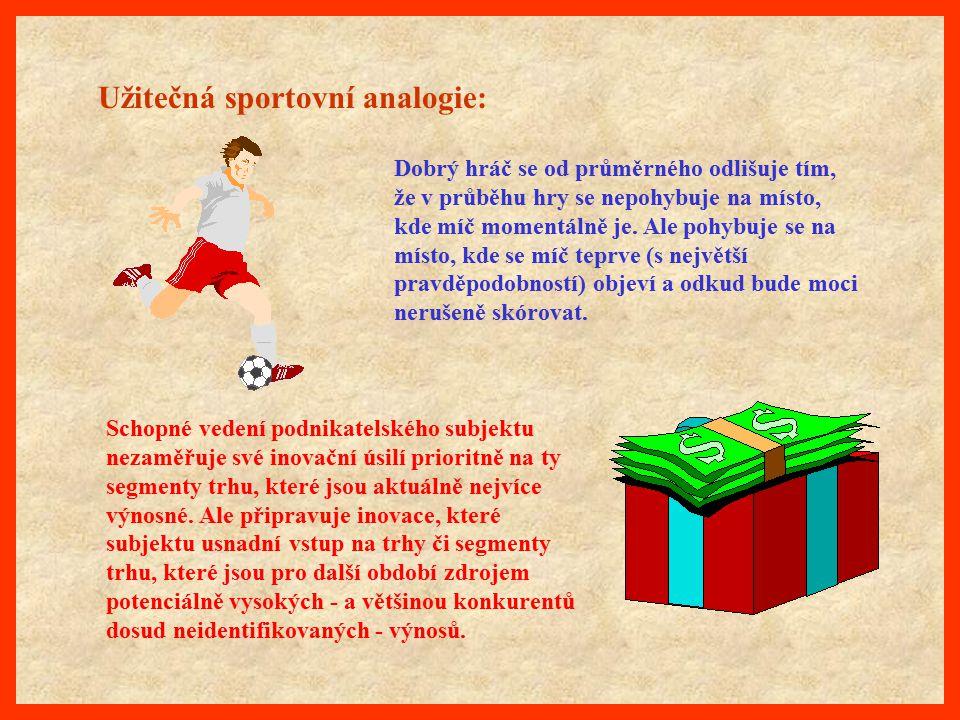 Užitečná sportovní analogie: