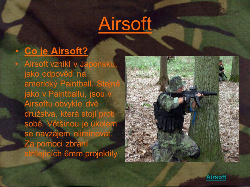 Airsoft Co je Airsoft