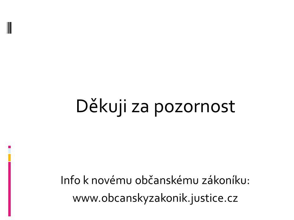 Info k novému občanskému zákoníku: