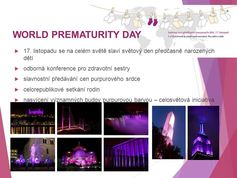 WORLD PREMATURITY DAY 17. listopadu se na celém světě slaví světový den předčasně narozených dětí.