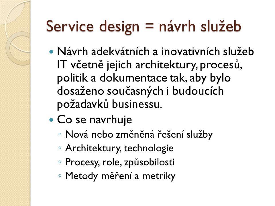Service design = návrh služeb