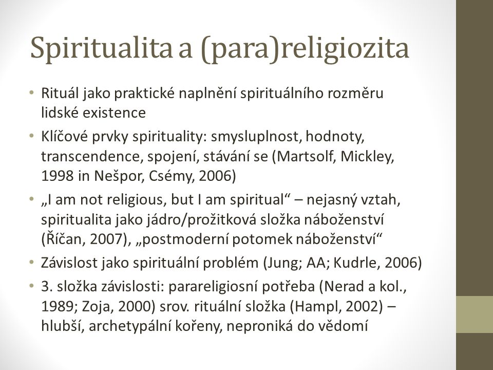 Spiritualita a (para)religiozita