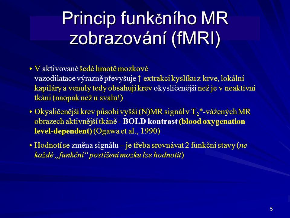 Princip funkčního MR zobrazování (fMRI)