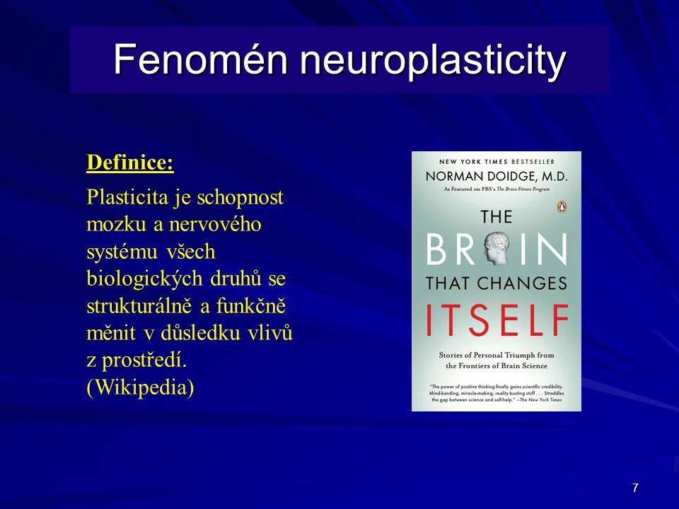 Fenomén neuroplasticity
